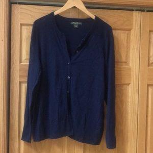 Eddie Bauer XL blue cardigan